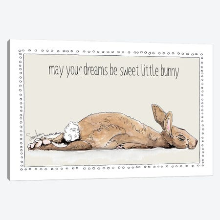 Sweet Dreams Little Bunny Canvas Print #SUZ143} by Suzanne Anderson Canvas Wall Art