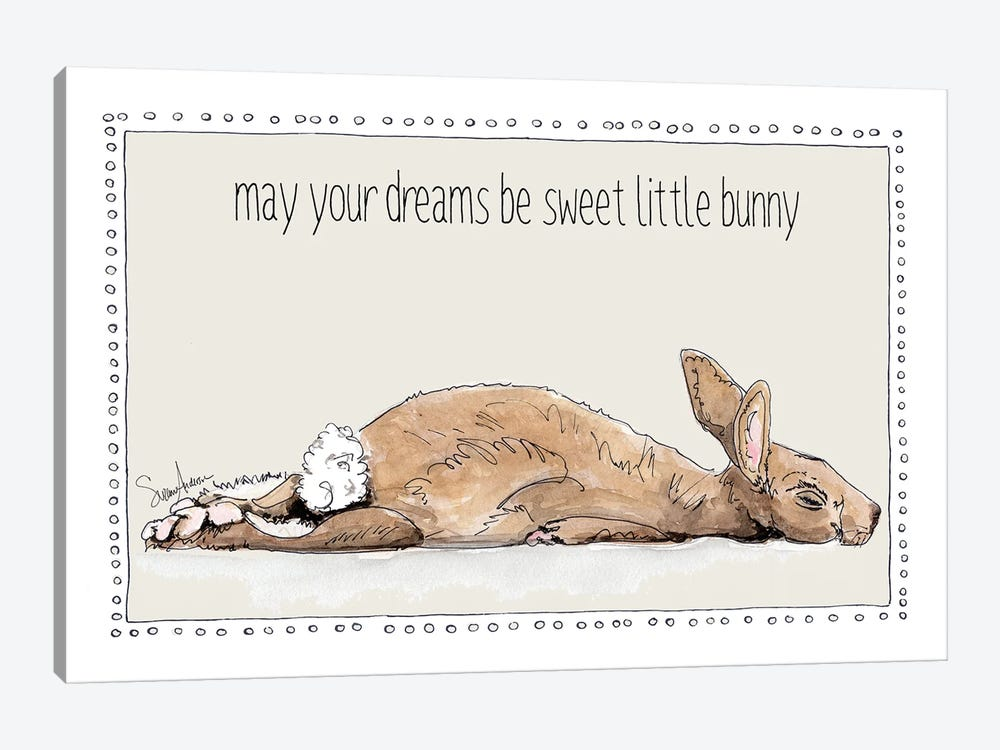 Sweet Dreams Little Bunny by Suzanne Anderson 1-piece Canvas Print
