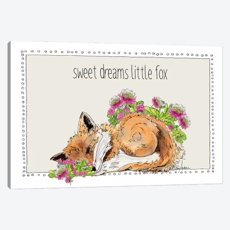 Sweet Dreams Little Fox Canvas Print #SUZ144} by Suzanne Anderson Art Print