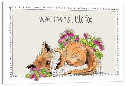 Sweet Dreams Little Fox Canvas Art Print