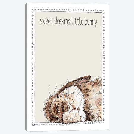 Sweet Sleeping Bunny Canvas Print #SUZ146} by Suzanne Anderson Canvas Print