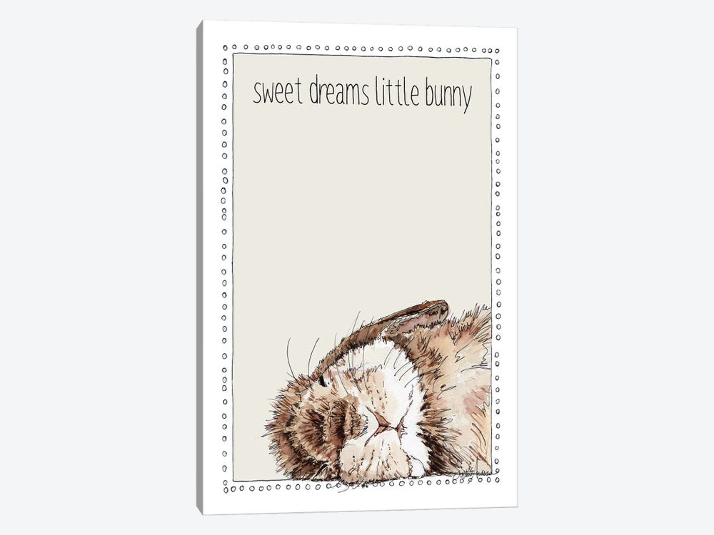 Sweet Sleeping Bunny by Suzanne Anderson 1-piece Canvas Art