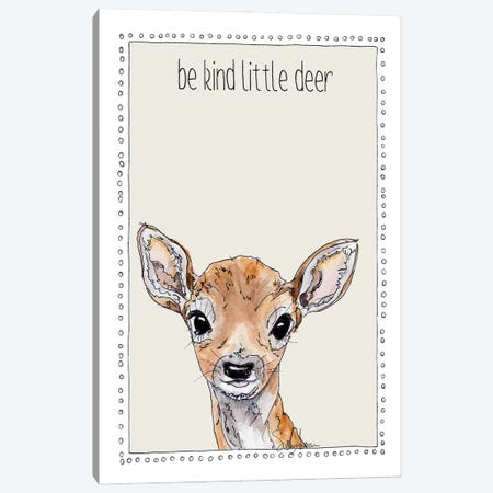 Be Kind Little Deer Canvas Print #SUZ147} by Suzanne Anderson Canvas Print