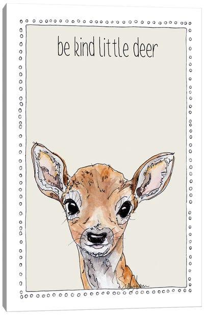 Be Kind Little Deer Canvas Art Print
