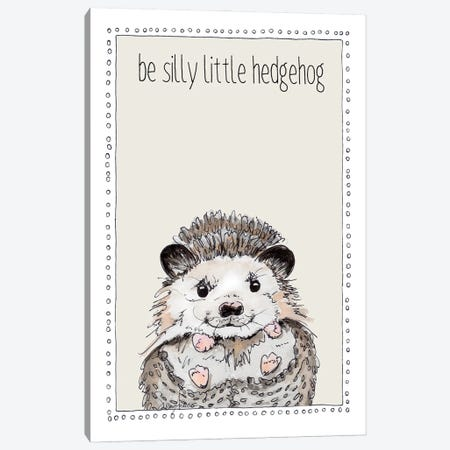Be Silly Little Hedgehog Canvas Print #SUZ148} by Suzanne Anderson Canvas Wall Art
