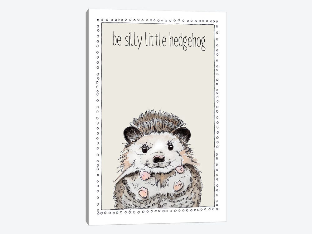 Be Silly Little Hedgehog by Suzanne Anderson 1-piece Canvas Artwork