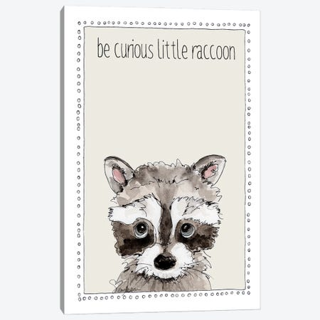 Be Curious Little Raccoon Canvas Print #SUZ149} by Suzanne Anderson Canvas Art