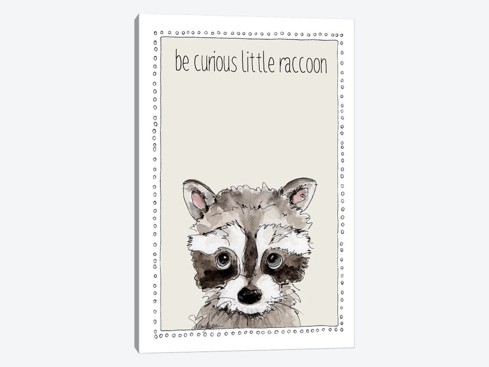 Be Curious Little Raccoon by Suzanne Anderson 1-piece Canvas Print