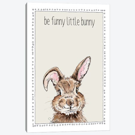 Be Funny Little Bunny Canvas Print #SUZ150} by Suzanne Anderson Canvas Art Print
