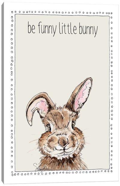 Be Funny Little Bunny Canvas Art Print