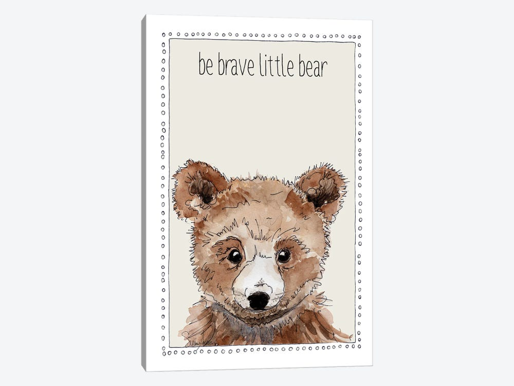 Be Brave Little Bear by Suzanne Anderson 1-piece Canvas Art