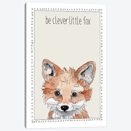 Be Clever Little Fox Canvas Print #SUZ152} by Suzanne Anderson Art Print