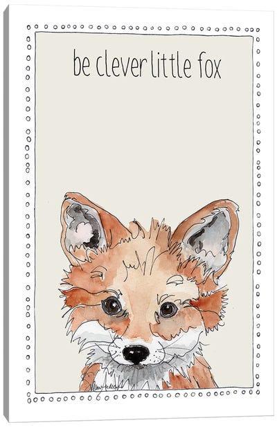 Be Clever Little Fox Canvas Art Print