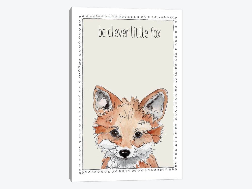 Be Clever Little Fox by Suzanne Anderson 1-piece Canvas Art Print