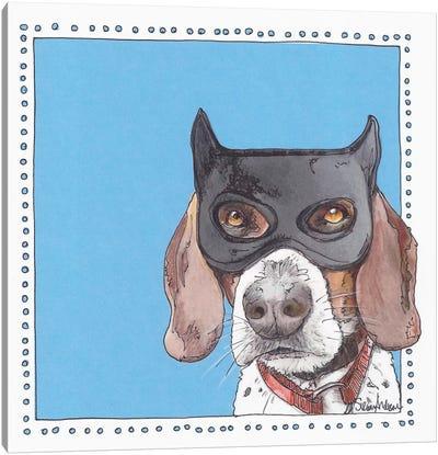 Bat Beagle Canvas Art Print