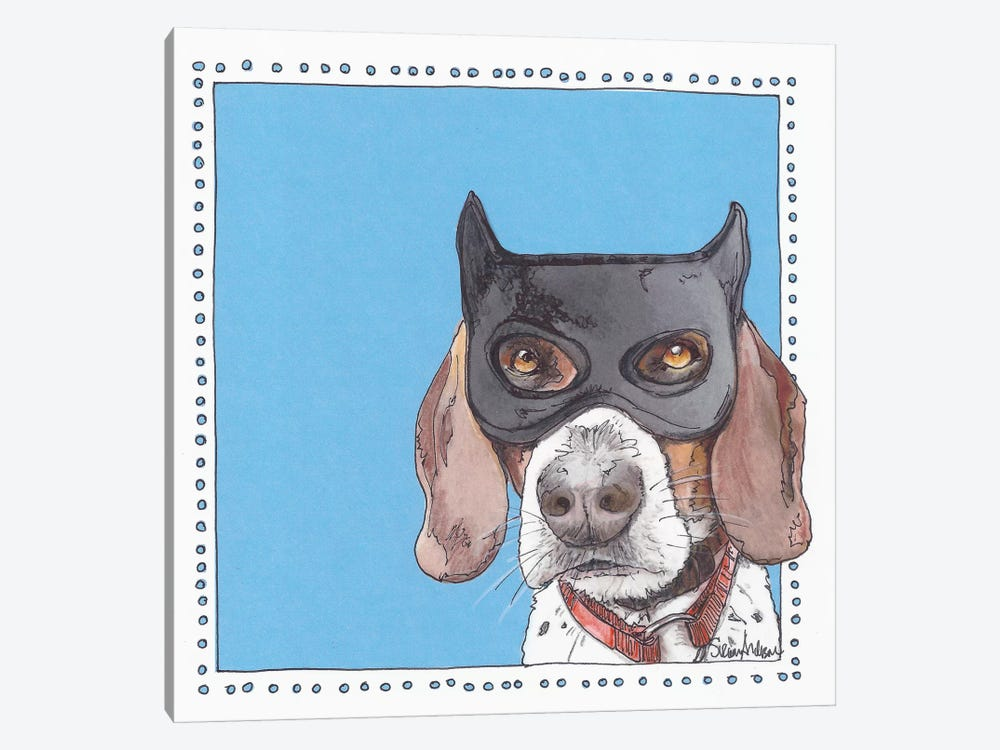 Bat Beagle by Suzanne Anderson 1-piece Canvas Wall Art