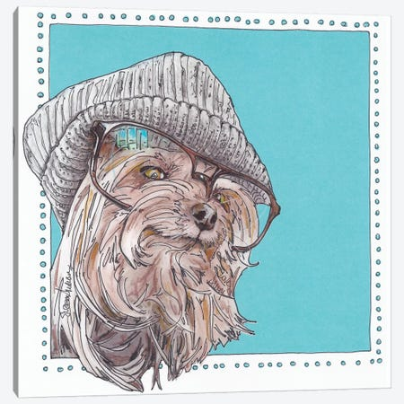 Willie Hipster Canvas Print #SUZ30} by Suzanne Anderson Art Print