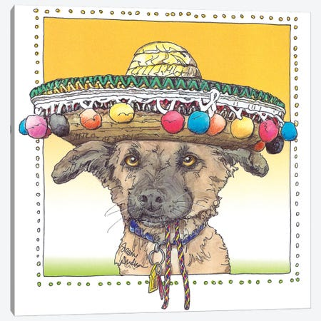 Cinco de Pogo Canvas Print #SUZ35} by Suzanne Anderson Canvas Artwork