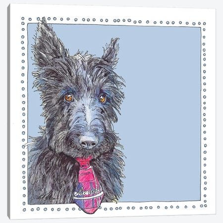 Lenny Of Blue Scotts 3-Piece Canvas #SUZ39} by Suzanne Anderson Art Print