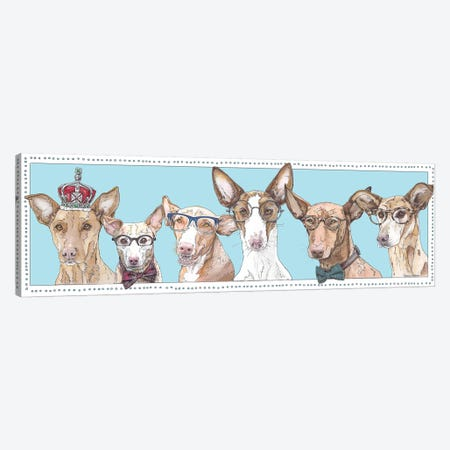 Podenco Pack Blue Canvas Print #SUZ45} by Suzanne Anderson Canvas Print