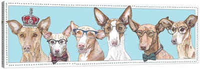 Podenco Pack Blue Canvas Art Print