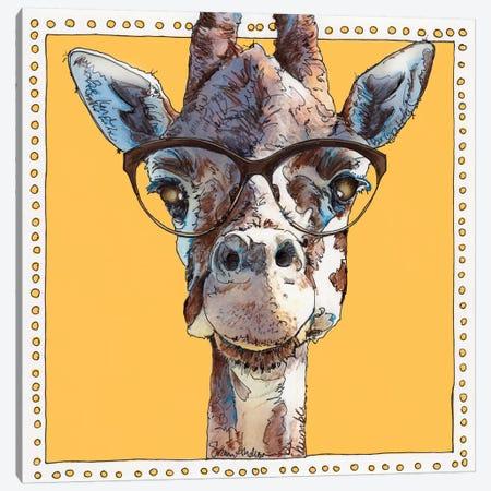 Gigi Giraffe Canvas Print #SUZ60} by Suzanne Anderson Canvas Artwork