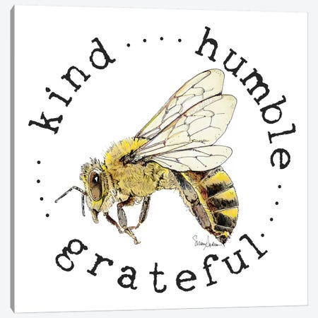 Kind Grateful Humble Bee Bop Canvas Print #SUZ62} by Suzanne Anderson Canvas Art