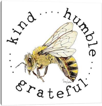 Kind Grateful Humble Bee Bop Canvas Art Print