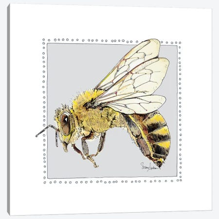 Save Bee Bop Canvas Print #SUZ69} by Suzanne Anderson Canvas Wall Art
