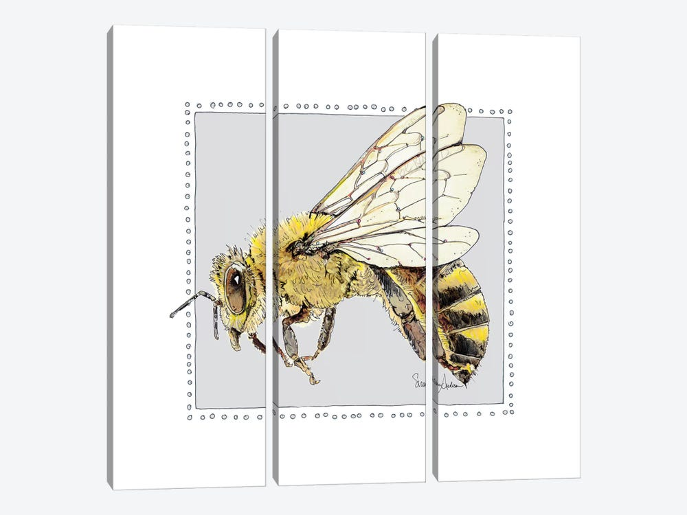 Save Bee Bop by Suzanne Anderson 3-piece Canvas Art