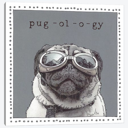 Kirby Pug-ol-o-gy Canvas Print #SUZ6} by Suzanne Anderson Art Print