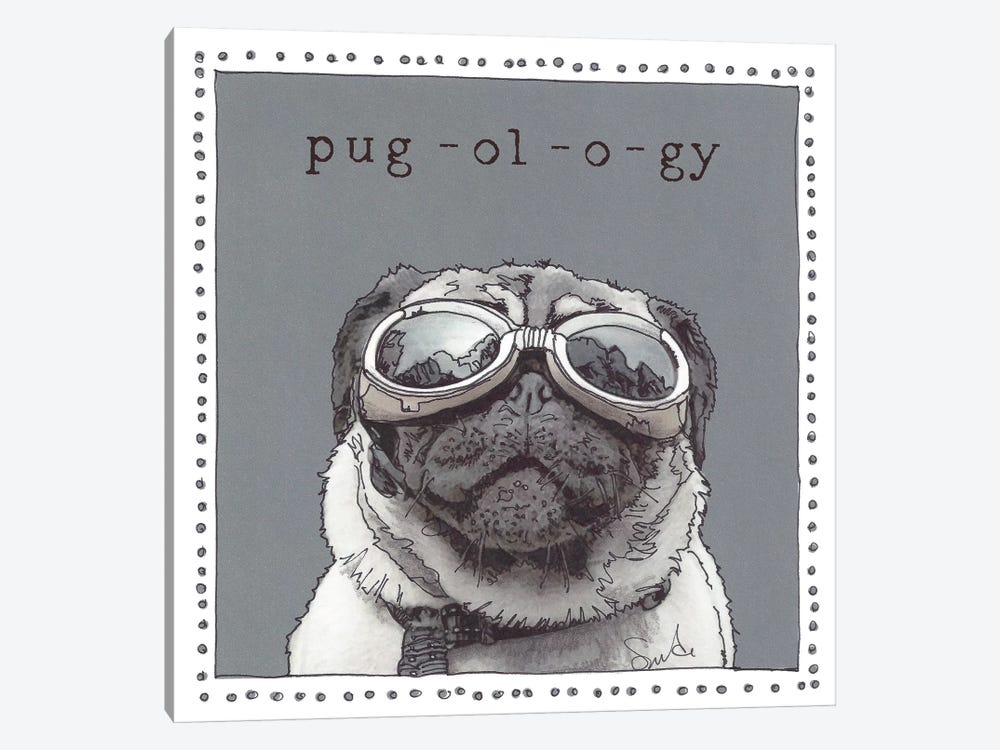 Kirby Pug-ol-o-gy by Suzanne Anderson 1-piece Canvas Art