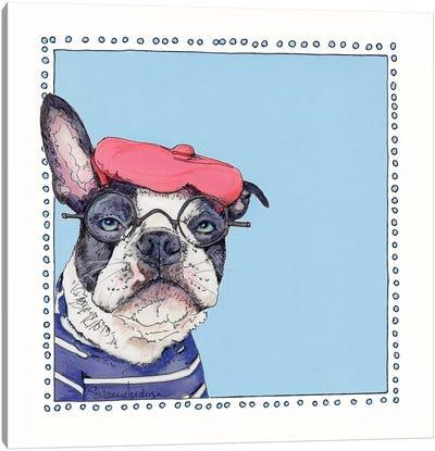 We We Frenchie Canvas Art Print