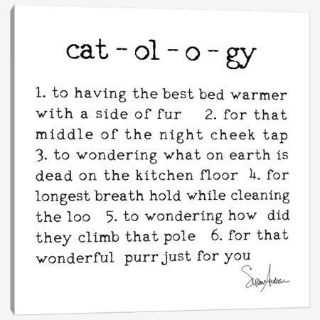 Catology Canvas Print #SUZ77} by Suzanne Anderson Canvas Artwork