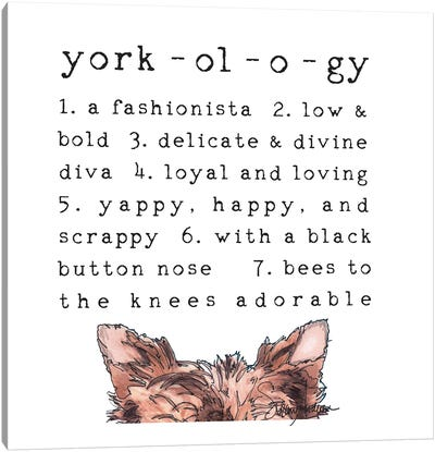 Yorkology Ears Canvas Art Print