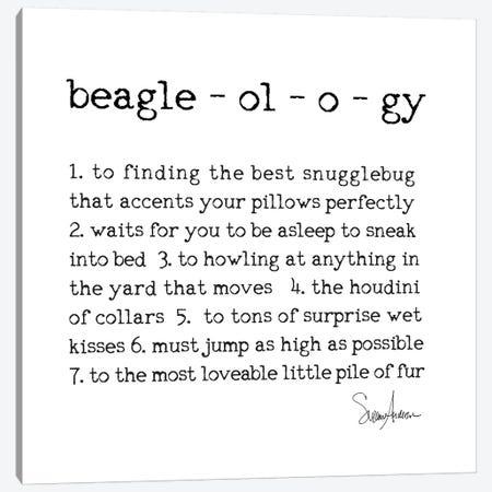Beagleology Canvas Print #SUZ85} by Suzanne Anderson Canvas Art Print