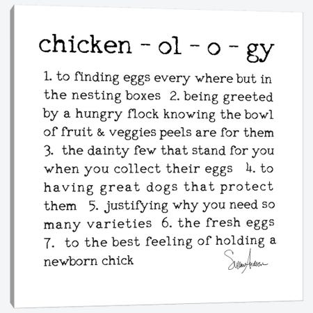 Chickenology Canvas Print #SUZ86} by Suzanne Anderson Canvas Print