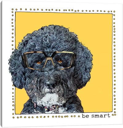 Callie Be Smart Canvas Art Print