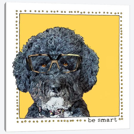 Callie Be Smart Canvas Print #SUZ90} by Suzanne Anderson Canvas Print