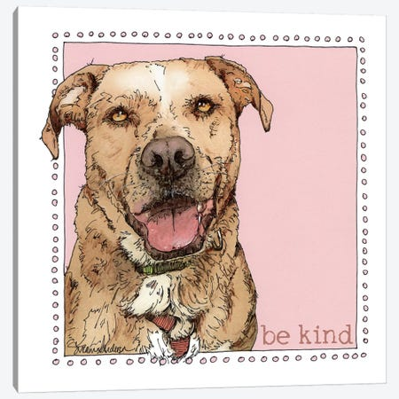 Ellie Be Kind 3-Piece Canvas #SUZ91} by Suzanne Anderson Canvas Print