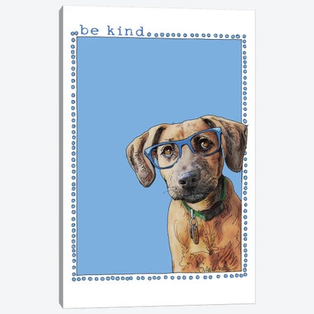 Hank Be Kind 3-Piece Canvas #SUZ93} by Suzanne Anderson Canvas Print