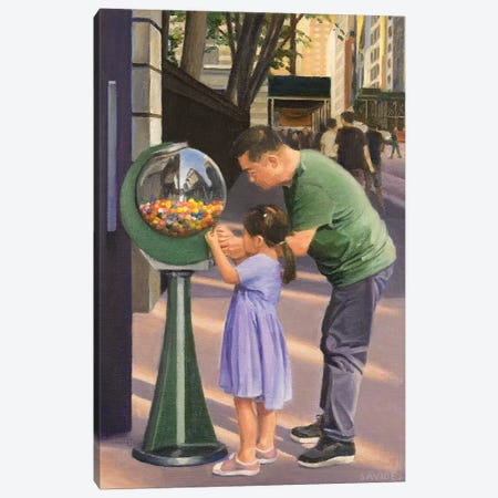 Gumball Machine Canvas Print #SVD100} by Nick Savides Canvas Wall Art