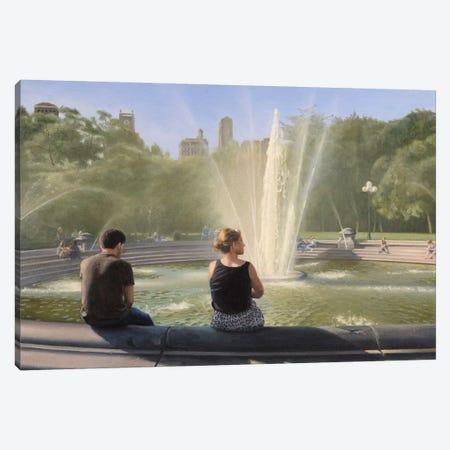 Washington Square Fountain Canvas Print #SVD101} by Nick Savides Canvas Wall Art