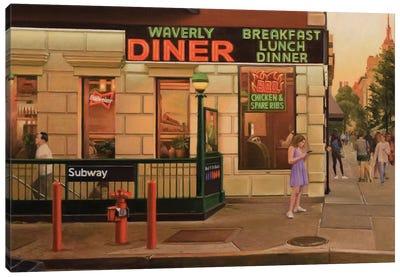 Waverly Diner Canvas Art Print