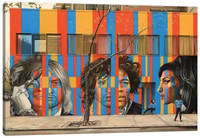 Legends On Rivingston Street Canvas Art Print