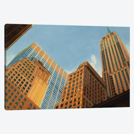 Wall Street - Looking Up Canvas Print #SVD106} by Nick Savides Art Print