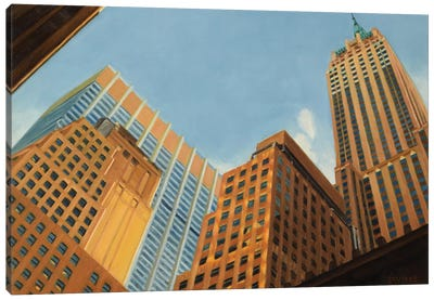 Wall Street - Looking Up Canvas Art Print