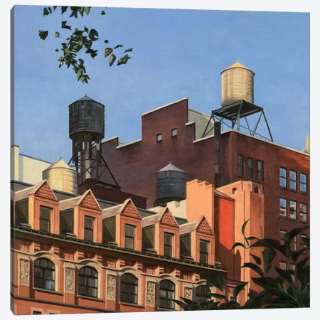 Rooftops From Madison Square Park Canvas Print #SVD107} by Nick Savides Canvas Print