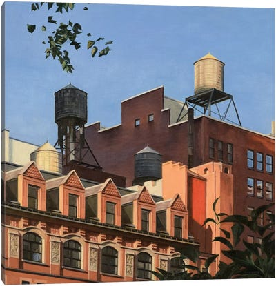 Rooftops From Madison Square Park Canvas Art Print