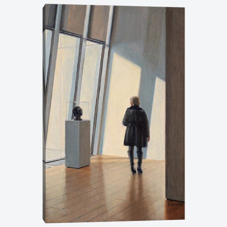 Museum Encounter Canvas Print #SVD108} by Nick Savides Canvas Wall Art
